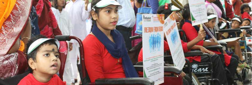 How do the  Disabled Children in India  Receive  Help from the NGOs?