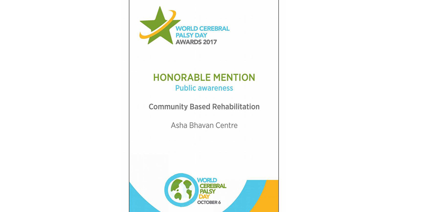 Received a honorable mention from Cerebral Palsy Alliance